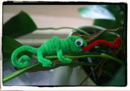 chameleon pipe cleaner animals