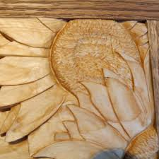 wall sculpture wood sunflower sunflower wall carving wood from northwindcarvings on