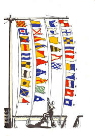 Us Navy Signal Flags File Naval Alphabetical And Numeral Flags Seaman U0027s Pocket Book
