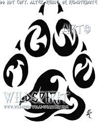 tribal paw memorial tattoo by wildspiritwolf on deviantart