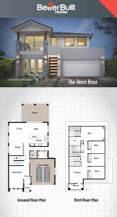 2 Floor House Plans The Demi Rose Double Storey House Design Betterbuilt Floorplans