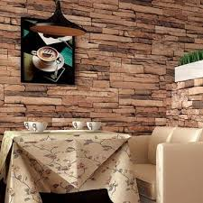 3d Wallpaper Interior 10m 3d Wallpaper Roll Pvc Brick Grain Waterproof Wallpaper Natural