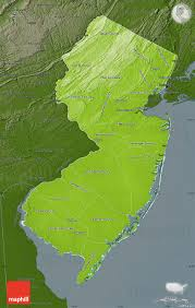 County Map Of Nj Physical Map Of New Jersey Darken