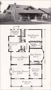 Floor Plans For Bungalows California Craftsman Bungalow House Plan 1918 Representative