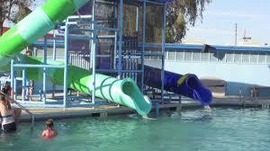 swimming pool and water slide fun youtube