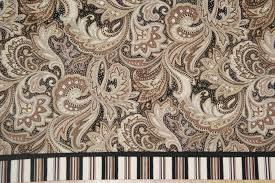 perugina paisley brown tan black white toile valance 17