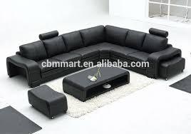 Leather U Shaped Sofa Modern White Leather Sofa With Foot Stool Genuine Leather U