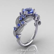light blue sapphire ring nature classic 14k white gold 1 0 ct natural light blue sapphire