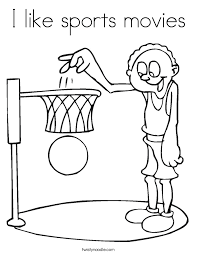 movies coloring pages i like sports movies coloring page twisty noodle