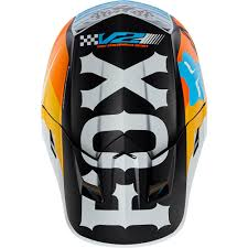 ebay motocross helmets fox racing 2017 mx new v2 rohr white orange blue dirt bike