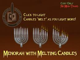 menorah candles second marketplace vh menorah with melting candles