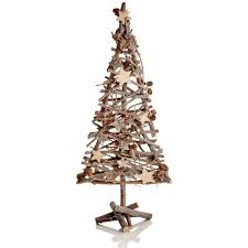 twig christmas tree with pine cones saga garden centre