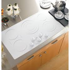 Ge Electric Cooktops Shop Ge Profile 5 Element Smooth Surface Electric Cooktop White