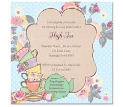 tea hens invitations