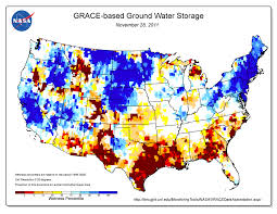 Texas Map Picture Texas Drought Visible In New National Groundwater Maps Nasa