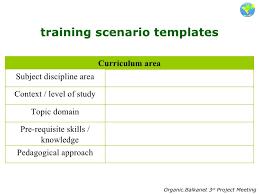 3 training scenarios