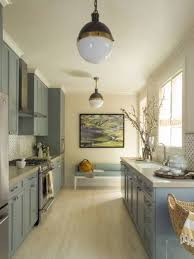 bright yellow galley kitchen color ideas galley kitchen color
