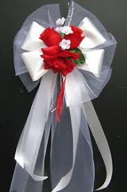 Pew Decorations For Weddings 12 Pew Bows Wedding Silk Flower Chair Church Decoration Red White