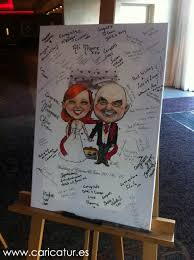 wedding signing board canvas wedding signing boards the caricature of allan cavanagh