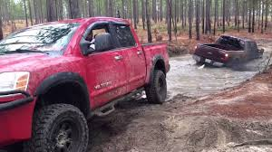 Ford Trucks Mudding Lifted - nissan titan pulls out hummer h2 and lifted f250 on 37 u0027s fort