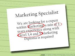 How To Set Up A Resume For A Job by How To Write A Resume For A Marketing Job 9 Steps With Pictures