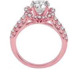 pink gold engagement rings ring diamond halo engagement ring in pink gold es1108rg