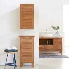 Bathroom Cabinets  Wood Bathroom Cabinets Kid Bathrooms Cottage - Solid wood bathroom vanity uk