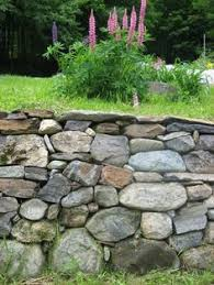 dry stacked rock walls dry stone wall new england style and