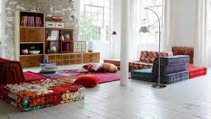 canap au sol ameublement design du salon 46 idées par roche bobois