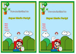 How To Make Invitation Cards For Birthday Super Mario Birthday Invitations Marialonghi Com