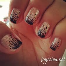 55 black and beige nail art design idea mix match red black white