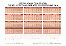 Jadwal Sholat Jogja Desain Kalender 2014 Jadwal Waktu Sholat 2014