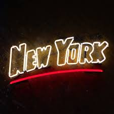 new york postcard neon sign ready made