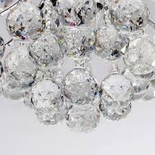 Chrome Flush Mount Ceiling Light by Lightinthebox Chrome Finish Crystal Chandelier With 3 Lights