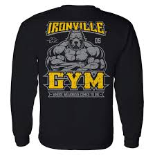 powerlifting u0026 bodybuilding long sleeve gym t shirts ironville