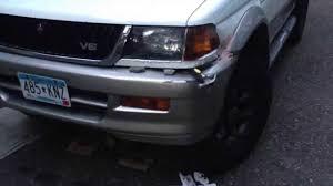 mitsubishi montero sport 2000 mitsubishi montero 1999 xls sports repair light bumper vlog