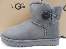 womens grey boots size 9 ugg australia mini bailey button ii grey womens boots 9 ebay