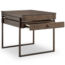 reclaimed wood end table kirkwood modern rustic dark whiskey reclaimed wood end table free