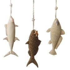 seaside inspired decor fish ornaments for your