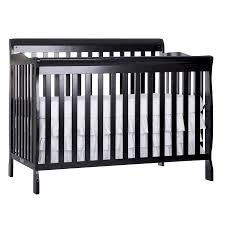 Black Convertible Crib On Me Ashton 5 In 1 Convertible Crib Black Walmart