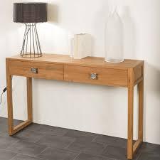 console pour chambre console de salon en bois de teck massif théa rectangle naturel
