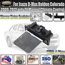 blower motor heater fan resistor for isuzu d max holden colorado