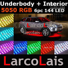 Led Strip For Car Interior 24 Mode Sound Active 144 Led Rgb 5050 Remote Car Interior