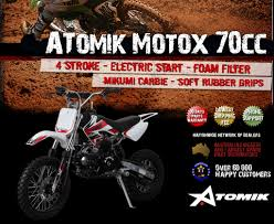 motocross bikes on ebay new atomik moto x 70cc motor pit dirt bike motocross trail terrain