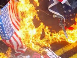 Flag Burning Protest Police Arrest Protesters At Flag Burning Outside Convention Sofrep