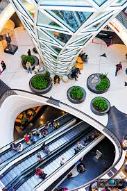 modern architectural interior design at myzeil shopping mall in