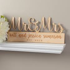 mr mrs personalized wood plaque wall prints wedding