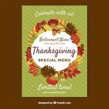 cartel de ú de thanksgiving descargar vectores gratis