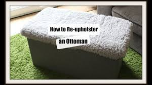 Upholster Ottoman How To Re Upholster An Ottoman Lid Ikea Hack