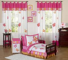 Pink Toddler Bedding Pink Orange Butterfly Toddler Comforter Bedding 5pc Bed In A